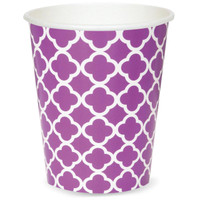 Quatrefoil Paper Cups - Pretty Purple (6)
