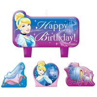 Disney Cinderella Birthday Candle Set