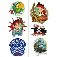 Disney Jake and the Never Land Pirates Tattoo Sheets