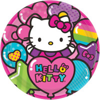Hello Kitty Rainbow Dinner Plates (8)