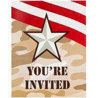 Camo Army Soldier Invitations