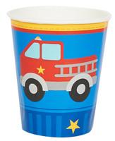 Little Fireman 9 oz. Paper Cups (8)