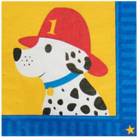 Little Fireman Lunch Napkins (20)