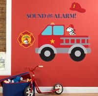 Little Fireman Giant Wall Decals