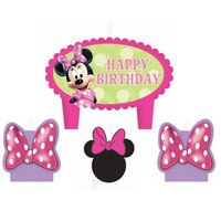 Disney Minnie Mouse Bowtique Birthday Candle Set