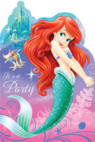 Disney The Little Mermaid Sparkle Invitations