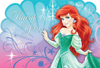 Disney The Little Mermaid Sparkle Thank You Notes