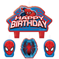 Spider-Man Birthday Candle Set