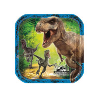 Jurassic World Square Dessert Plates