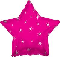 Hot Pink Sparkle Star Foil Balloon