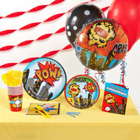 Superhero Comics Basic Party Pack