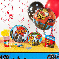 Superhero Comics Deluxe Party Pack