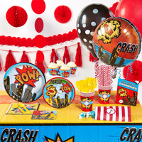 Superhero Comics Super Deluxe Party Pack