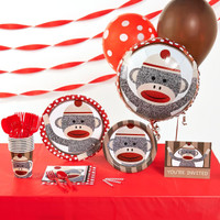 Sock Monkey Red Basic Party Pack