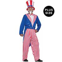 Uncle Sam Adult Plus Costume