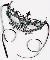 Dark Allure Filigree Black Mask Adult