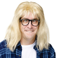 SNL Garth Algar Wig and Glasses Accessory Kit