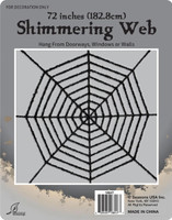 Black Shimmering Web 40'