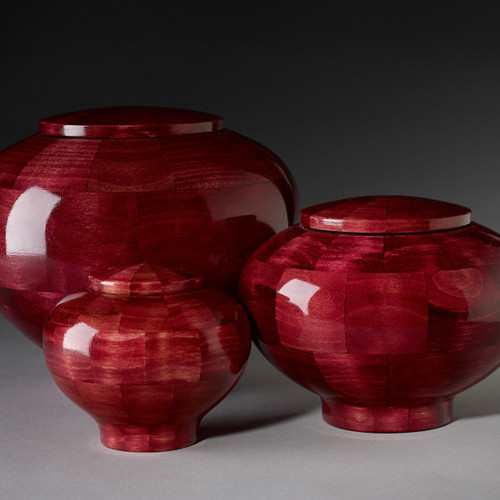 Precious Jewel Collection in Ruby. Handcrafted wooden pet urns. Available in 3 different urn sizes. The perfect pet urn for your precious pet angel.