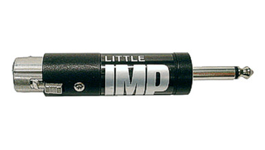 """Whirlwind Little IMP - Some mixers have 1/4"""", unbalanced inputs designed for high impedance mics and won't accept standard balanced, low impedance microphones. This inline transformer with female XLR - 1/4"""" TS plug is the solution for making that connection"""