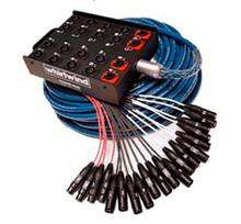 Whirlwind MS-16-4-SB - Whirlwind's Medusa Series Snakes have been the touring standard worldwide for decades. 16 INPUTS : 4 TRS RETURNS (50' / 100' / 150' / 200' / 250')
