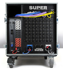 Whirlwind STSR358 - SUPER TOUR - The Whirlwind Super Tour is an entire 58-ch Concert Series snake system, neatly packed into a single road case. The Whirlwind Super Tour is an entire 58-ch Concert Series snake system, neatly packed into a single road case. 3-way iso split w/TRSP2F transformers.