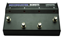 """Whirlwind Multiselector AMP 'Remote' - This remote works with the MultiSelector AMP only. The optional MultiSelector Remote """"stomp box"""" style footswitch contains four switches that remotely control the switching functions of the rack mount units using a regular 3-pin XLR microphone cable."""