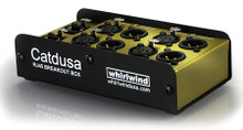Catdusa is a 4 channel analogue snake box that uses shielded Cat5 cable instead of traditional multipair cable.