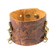 Lenny and Eva Wide Cuff in Vintage Floral Brown