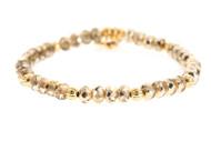 Lenny and Eva Refined Beaded Bracelet - Pale Gold