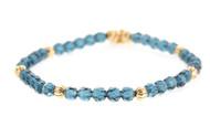 Lenny and Eva Refined Beaded Bracelet - Sapphire