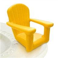 Nora Fleming Yellow Chillin' Beach Chair mini