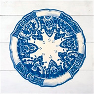 Hester and Cook - China Blue Die-Cut Paper Placemat Sheets