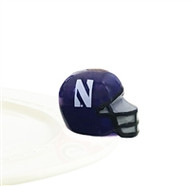 Nora Fleming Northwestern Helmet Mini