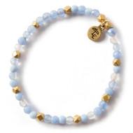 NEW: Lenny and Eva Blue Lace Agate Gemstone Bracelet, 4mm