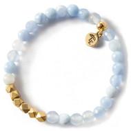 NEW: Lenny and Eva Blue Lace Agate Gemstone Bracelet, 6mm