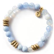 NEW: Lenny and Eva Blue Lace Agate Gemstone Bracelet, 8mm