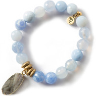 NEW: Lenny and Eva Blue Lace Agate Gemstone Bracelet, 10mm