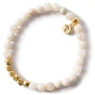 NEW: Lenny and Eva Grey Agate Gemstone Bracelet, 6mm