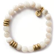 NEW: Lenny and Eva Grey Agate Gemstone Bracelet, 8mm