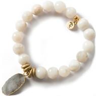 NEW: Lenny and Eva Grey Agate Gemstone Bracelet, 10mm