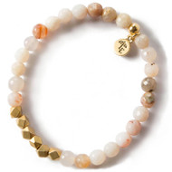 NEW: Lenny and Eva Rainbow Agate Gemstone Bracelet, 6mm