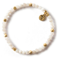 NEW: Lenny and Eva Grey Agate Gemstone Bracelet, 4mm