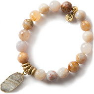 NEW: Lenny and Eva Rainbow Agate Gemstone Bracelet, 10mm