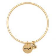 """Lenny & Eva Token Bangle Bracelet, """"Strength"""""""