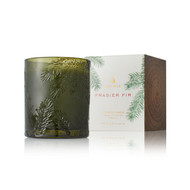Frasier Fir Molded Green Glass Poured Candle 6.5oz