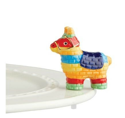 """Nora Fleming's New """"Party Animal"""" mini piñata is adorably festive for Cinco de Mayo and any time of the year for any Nora Fleming serving piece or platter."""