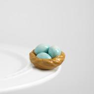 Nora Fleming Birds Nest Mini, robin's egg blue