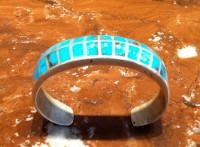 Zuni Turquoise Multi-Inlay Pawn Bracelet