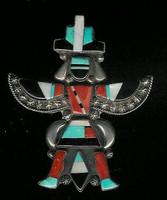 Zuni Knifewing Multi-Inlay Pin